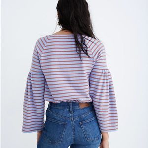 MADEWELL • striped flare sleeve top
